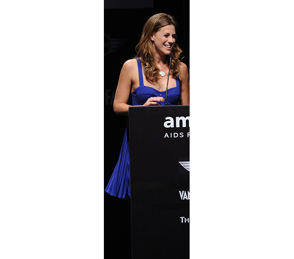 Francesca Versace presents one of the prizes for amfAR Milano 2010 at La Permanente. AMFAR – founded in 1985, amfAR is dedicated to ending the global AIDS epidemic through innovative research. To date, amfAR has invested more than $388 million in its programs and has awarded more than 3,300 grants to research teams worldwide. amfAR holds an annual gala in conjunction with Milan Fashion Week, a benefit attended by international delegates. Over the last 6 years, amfAR Milano benefits have raised more than $6 million for livesaving research.